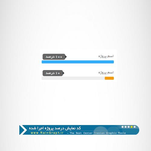 کد نمایش درصد پیشرفت کار سری اول
